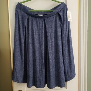 NWT Lularoe Madison denim blue skirt 3XL